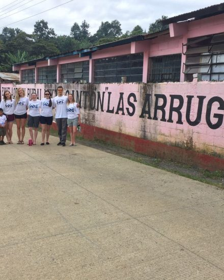A group of students at las arrugas